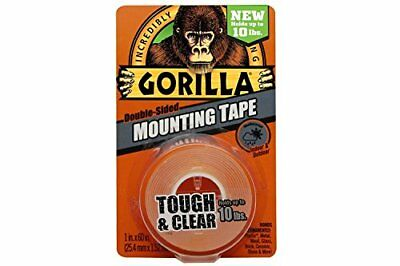 """Gorilla 6065001-12 Double-Sided Tough and Clear Mounting Tape 12pk 1""""x60"""""""