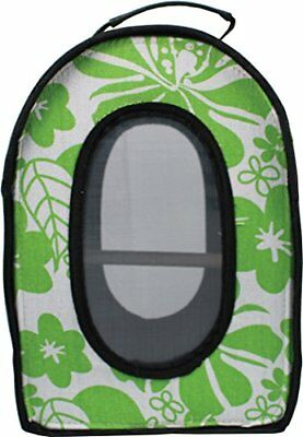 A&E CAGE COMPANY 001375 Green Happy Beaks Soft Sided Travel Carrier 13.5x9x18.5""