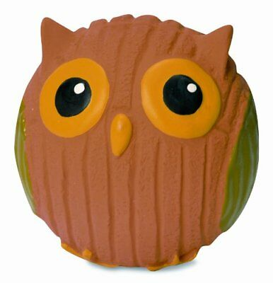 HuggleHounds Extremely Durable Squeaky Ruff-Tex Poppy The Owl Squeak Toy Mini