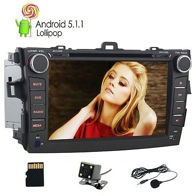 2 Din Android 5.1.1 Car DVD Radio Player for Toyota Corolla Car GPS Head Unit