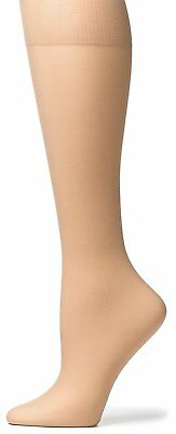 No Nonsense Womens Sheer Toe Knee Highs, 10 Pair Pack, Nude, One Size