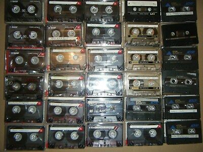Bulk lot 30 Used blank cassette tapes TDK AD60 Dennon DX BASF Ferro extra (lot2)