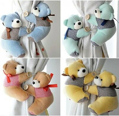 Baby Kid Bedroom Cartoon Teddy Curtain Tieback Tie Back Holder Buckle Hook Decor