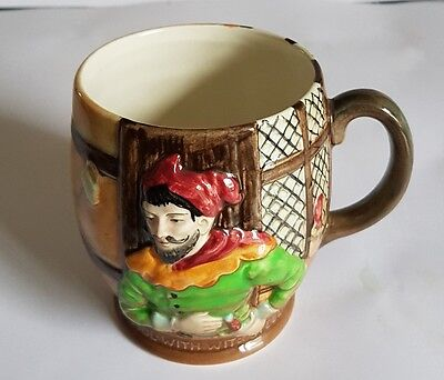 """Beswick Merry Wives of Windsor Mug / Tankard 1127 - """"Pistol with Wit or Steel"""""""