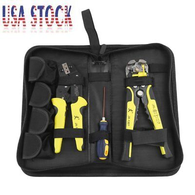 Wire Crimpers Engineering Ratcheting Terminal Crimping Pliers Stripper Tool MA