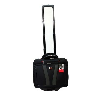 "Wenger Allocate Roller Travel Case Bag, Fits Laptops Notebook Up to 17"", Black"