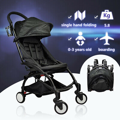 Baby Stroller Pram Compact Lightweight Foldable Travel Carry Pushchair 4 Wheels