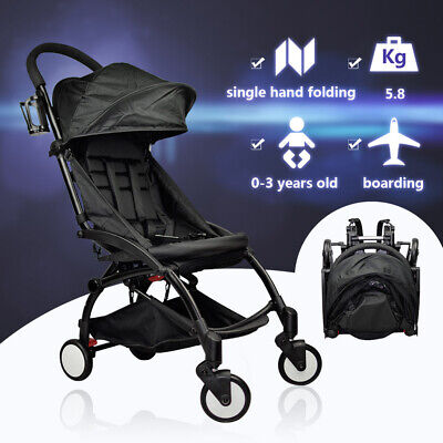 Baby Stroller Pram Compact Lightweight Jogger Travel Foldable Pushchair 4 Wheels