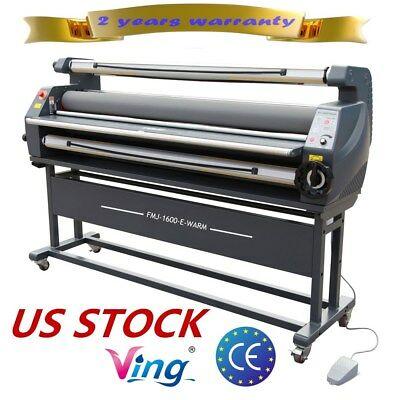 """USA 110V 63"""" Entry Level Full Auto Wide Heat Assisted Cold Laminator  laminating"""