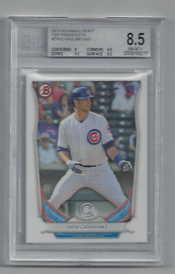 2014 Bowman Draft Top Prospects #TP62 Kris Bryant Cubs 8.5 graded TOP****