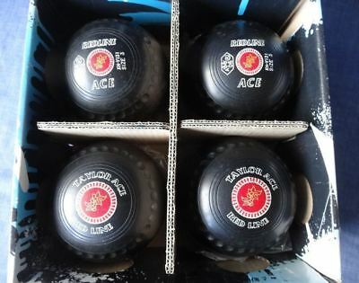 Thomas Taylor ACE REDLINE Lawn Bowls * Size 3 * BLACK * Stamped 06