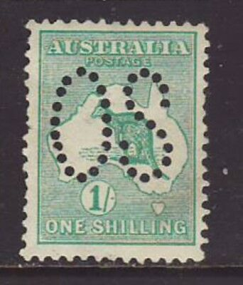 1913 1/- Emerald First wmk Roo perforated Large OS MVLH, No Faults, SG 010