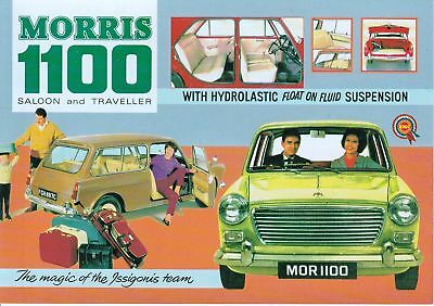 British Cars of 50`s and 60`s POST CARD, Morris 1100