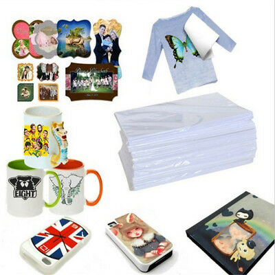 10pcs A4 Dye Sublimation Heat Transfer Paper for Polyester Cotton T- Shirt