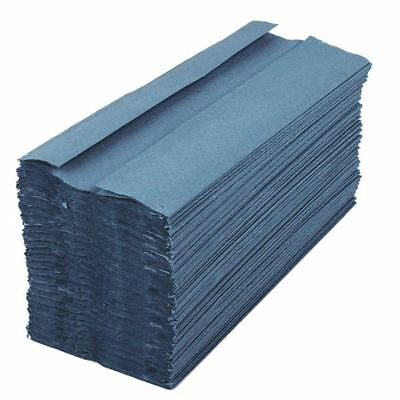 2Work Blue 1 Ply C-Fold Hand Towel (Pack of 2880) HC128BL [KF03800]