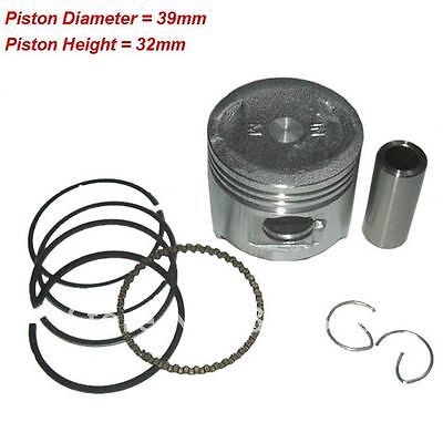 39mm PISTON KIT for 4 Stroke Chinese Import 50cc Scooters QMB139 Direct Bikes