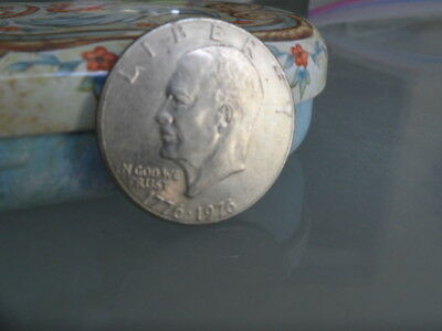 Usa Silver Eisenhower One Dollar Silver Coin - Liberty 1776-1976