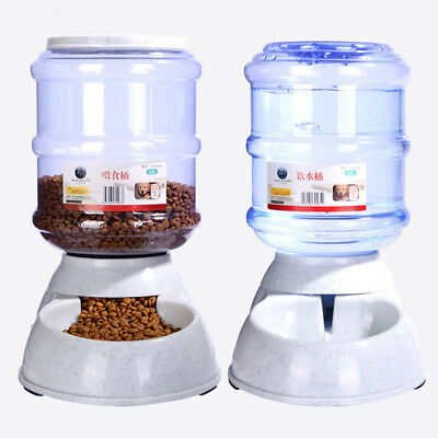 Automatic Removable Pet Food Drink Dispenser Dog Cat Feeder Water Bowl Dish 3.5L