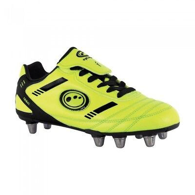 OPTIMUM TRIBAL RUGBY BOOTS - KIDS SIZES - RRP - £29.99 BNIB Yellow Free Postage