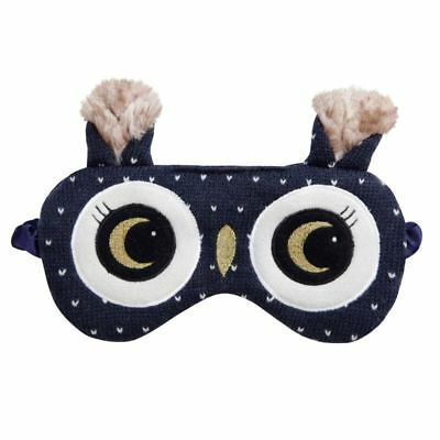 NEW Aroma Home Lavender Seed Scented Night Owl Knitted Eye Mask / Sleep Mask