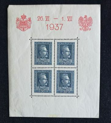 Pologne 1937. Bloc neuf.