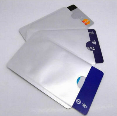 10 x RFID Blocking Sleeve Credit Card Protector Bank Card Holder for Wallets New