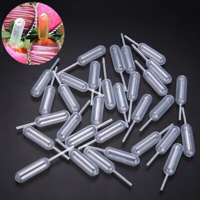100pcs Plastic Squeeze 4ml Transfer Pipettes Dropper For Cupcakes Ice Cream