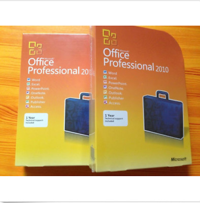 FREE SHIPPING+WARRANTY Microsoft Office Professional 2010 Retail FULL