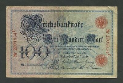 GERMANY - 100 mark  1898  Krause.20  Fine  (Banknotes)