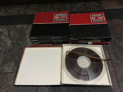 8 Reel to Reel Magnetic Audio Tapes  7inch Good condition