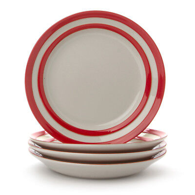 NEW Cornishware Red Side Plate Set 4pce
