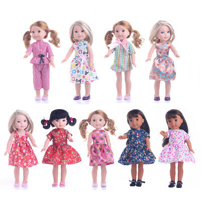 Dolls' Party Casual Costume Clothes for 14inch Doll American Girl Wellie Wishers