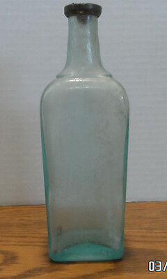 Antique Barbers Tonic Bottle with Lead Stopper  Colgate & Co  New York
