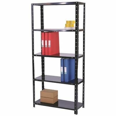 Storage Solutions Medium Duty Bolted 5-Shelf Unit D400mm Black  [STS56028]