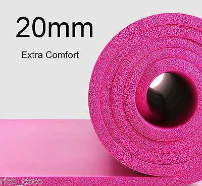 Extra Thick Gym Fitness Physio Orthopedic Non Slip Excercise Mat Back Support UK