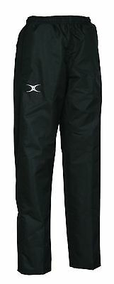 New Ex Display Gilbert Rugby Revolution Over Trouser Showerproof Black Size 16
