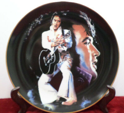 1987 Elvis Presley Collector Plate The King by Ernst