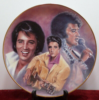 Elvis Presley Collector Plate from the Elvis Remembered Series 1989