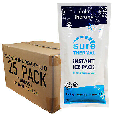 CMS Large Premium Cool Cold Sports Injury Ice Packs, Full Box 25 Freeze Pack