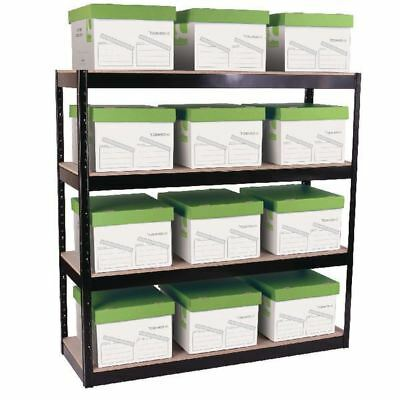 Storage Solutions Boltless 4-Shelf Unit Black STS56037 [STS56037]