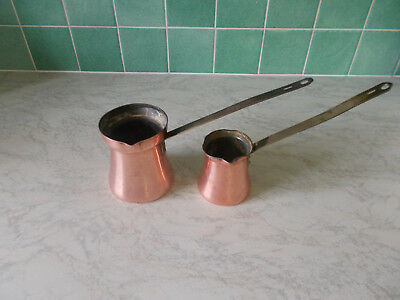 Vintage Copper Measuring Jugs
