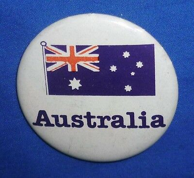 Tin Badge Pin 55 mm Button Australian Flag Retro Aussie Supporters Australia Day