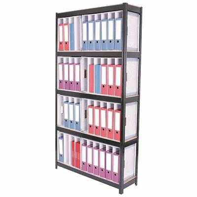 Storage Solutions Black Boltless 5-Shelf Lever Arch File Unit  [STS834450]