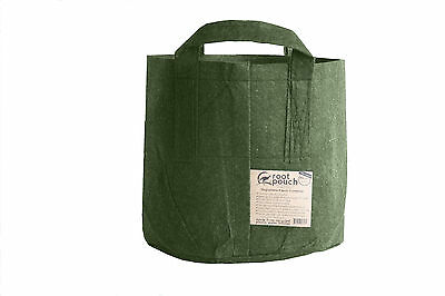 20 Root Pouch Green + handles (39L) Geotextile Smart grow Pot deco garden