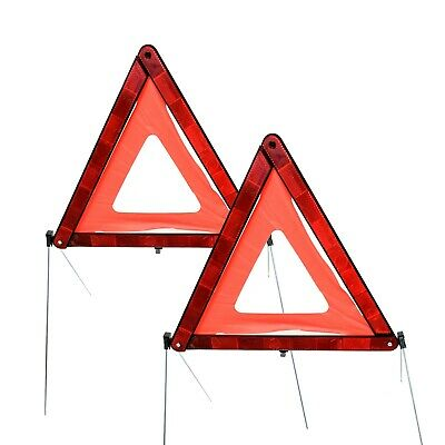 2 x Large Warning Triangle Reflective Car Breakdown Hazard Safety Emergency