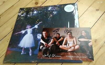 """WOLF ALICE - Visions of a Life lp  ltd double white vinyl & signed artcard & 7"""""""