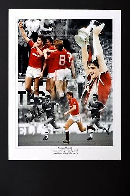 SALE NORMAN WHITESIDE MANCHESTER UNITED HAND SIGNED PHOTO GENUINE + COA - 16x12