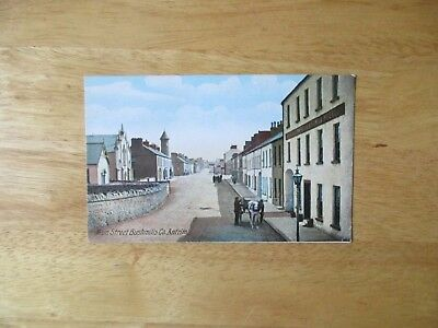 vintage postcard * Main Street, Bushmills, Co. Antrim * unposted early1900s