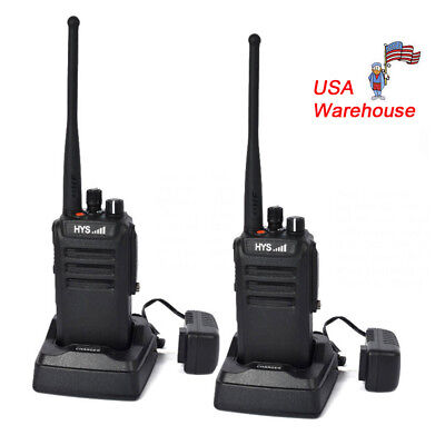 2X BLUETOOTH WALKIE Talkie 2 5W UHF400-480MHz Two Way Radio+