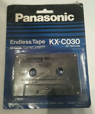 New Panasonic Endless Tape KX-C030 Outgoing Message Cassette 30 Seconds Duration